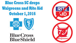 BLUE CROSS drops rite aid and walgreens