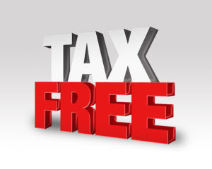 image of tax free text