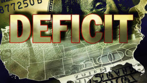 image of $100 bill and deficit