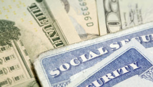 image of money and social security cards