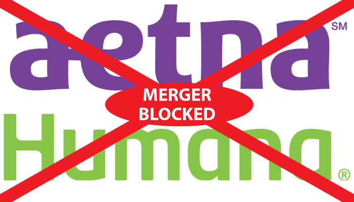 AETNA humana merger blocked
