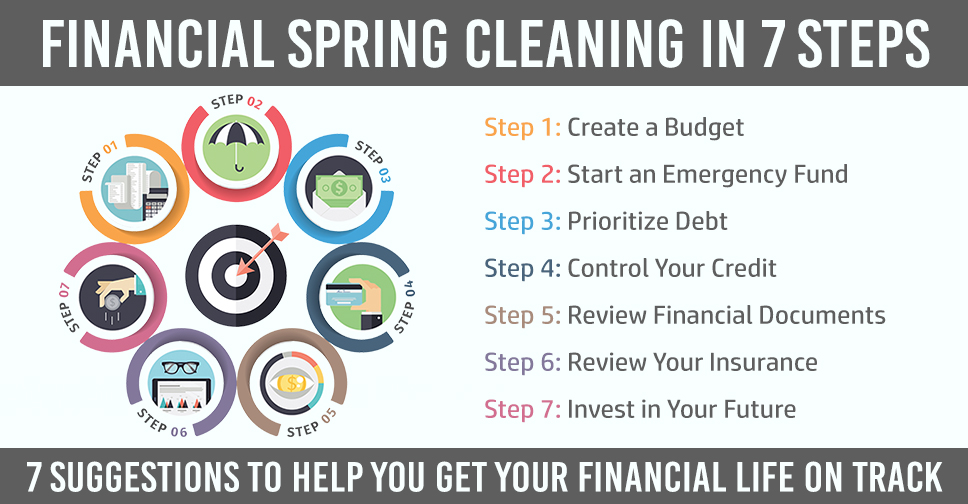 7 steps of financial spring cleaning