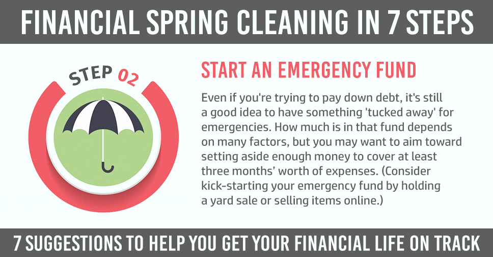 financial spring cleaning step 2 with explanation